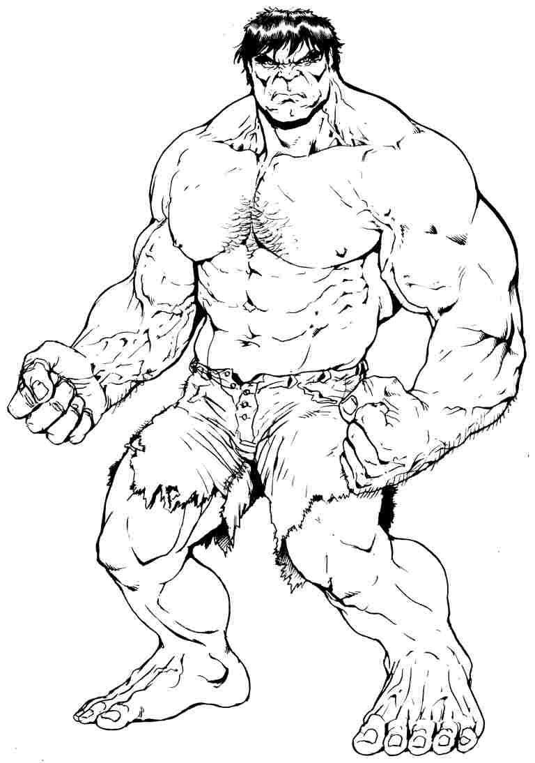 Adult Superhero Coloring Book  Free Superhero Hulk Colouring Pages For Preschool