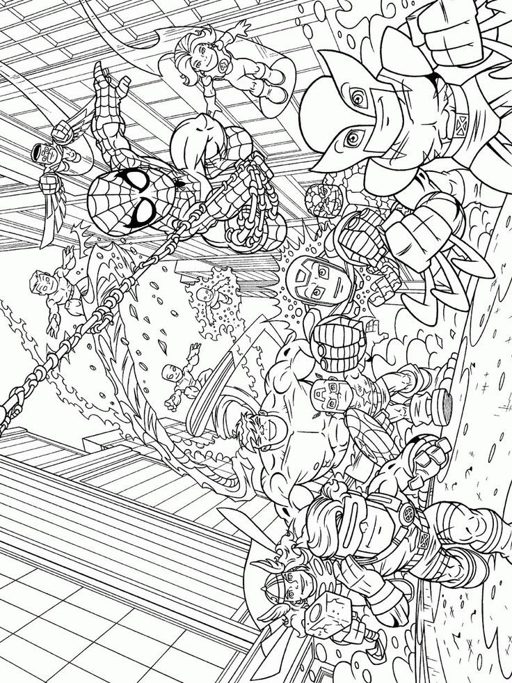 Adult Superhero Coloring Book  27 best Super Heroes Coloring Art Print Pages Colouring