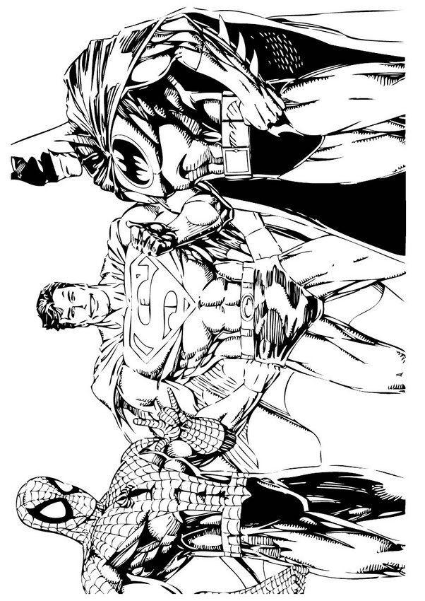Adult Superhero Coloring Book  coloriage batman11 batman Pinterest