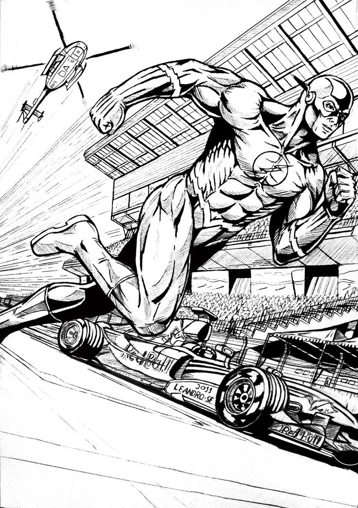 Adult Superhero Coloring Book  The flash superhero coloring pages