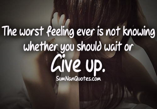 Alone Quotes Sad  Depressing Quotes About Giving Up QuotesGram