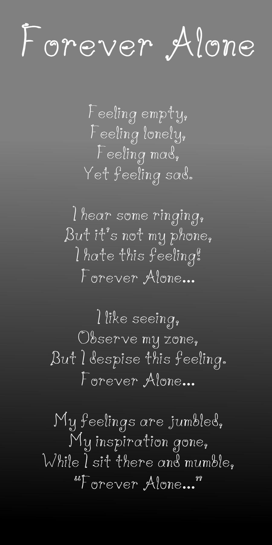 Alone Quotes Sad  Forever Alone Sad Quotes QuotesGram