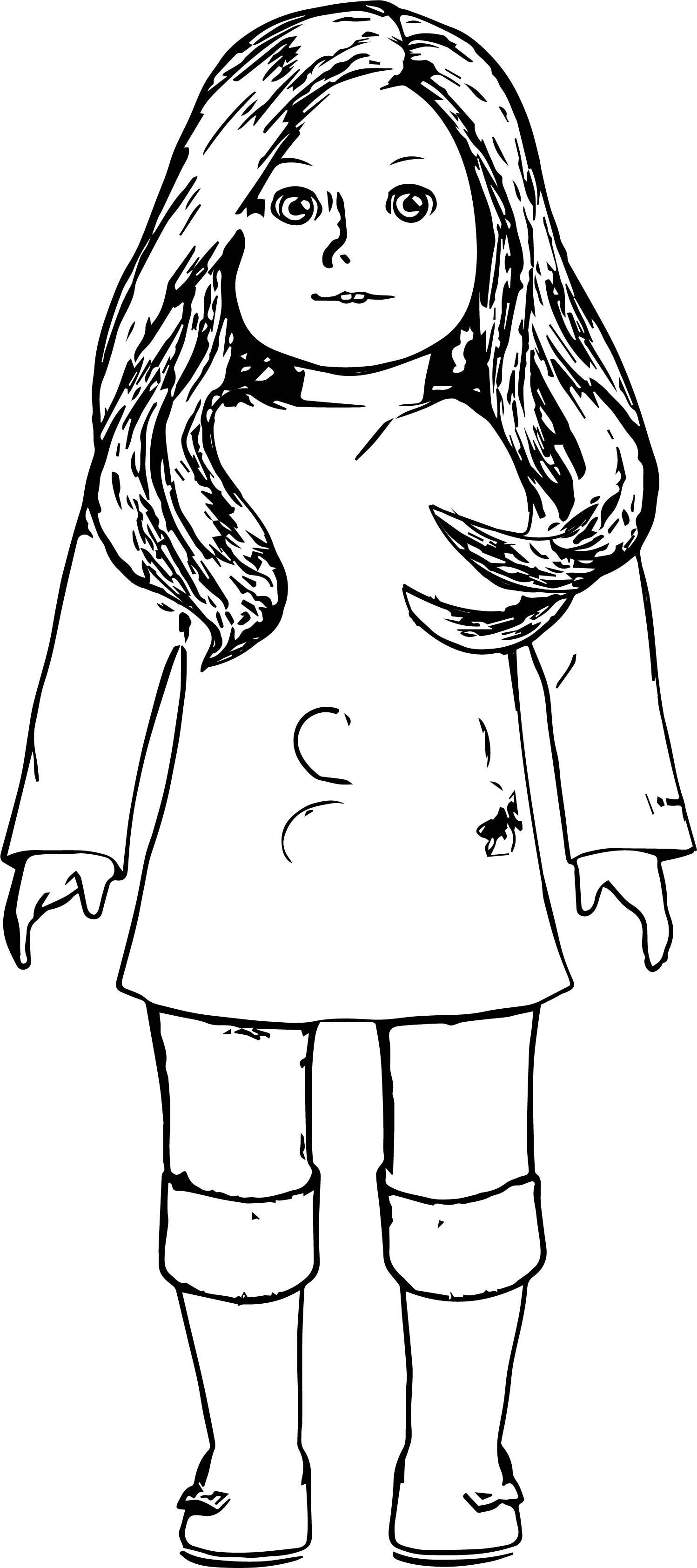 American Girl Coloring Pages Rebecca  American girl coloring page AGD