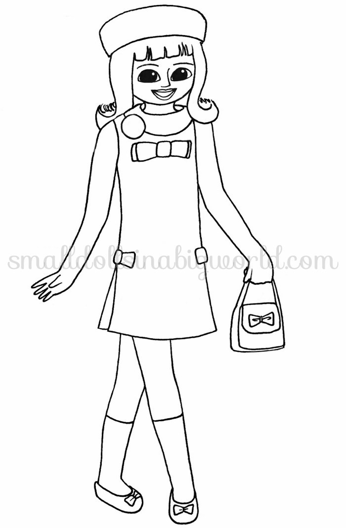 American Girl Coloring Pages Rebecca  Small Dolls in a Big World