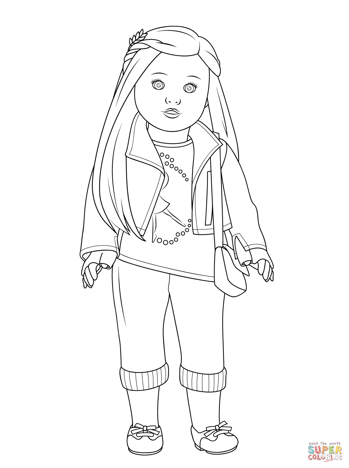 American Girl Coloring Pages Rebecca  American Girl Isabelle Doll coloring page
