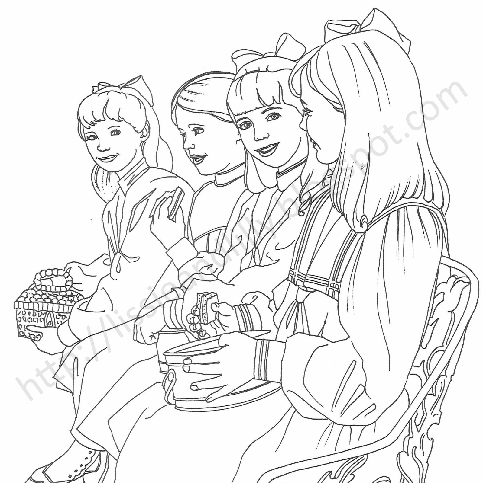 American Girl Coloring Pages Rebecca  American Girl Doll Coloring Pages coloringsuite