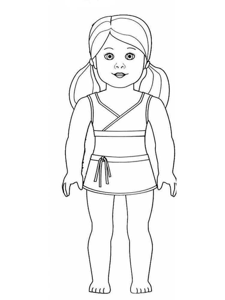 American Girl Coloring Pages Rebecca  American Girl Doll coloring pages Free Printable American