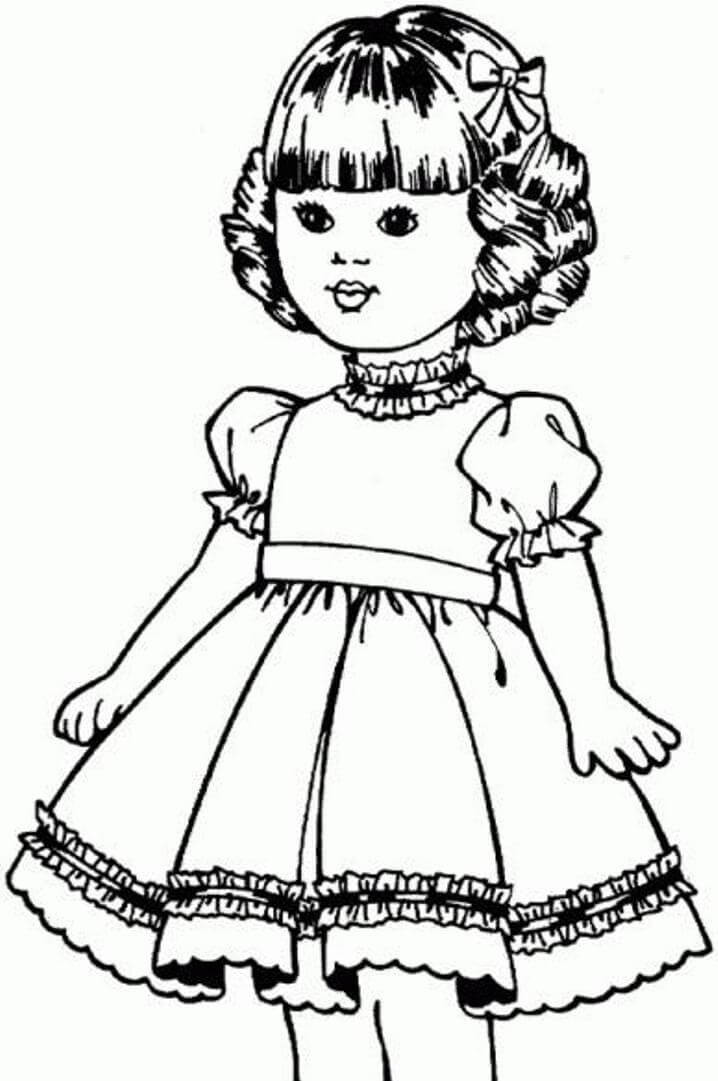 American Girl Coloring Pages Rebecca  American Girl Doll Coloring