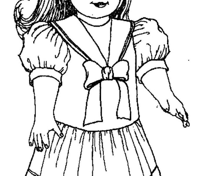 American Girl Coloring Pages Rebecca  American Girl Doll Drawing at GetDrawings