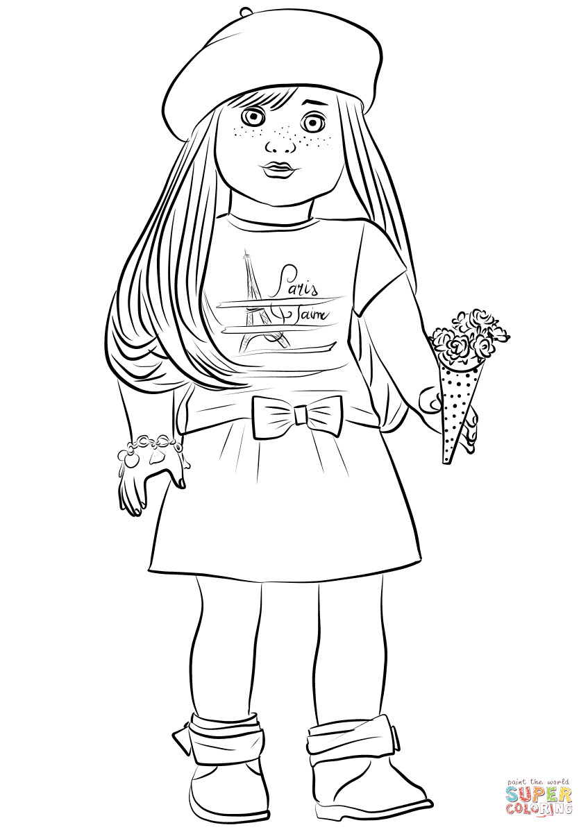 American Girl Coloring Pages Rebecca  American Girl Grace Thomas coloring page