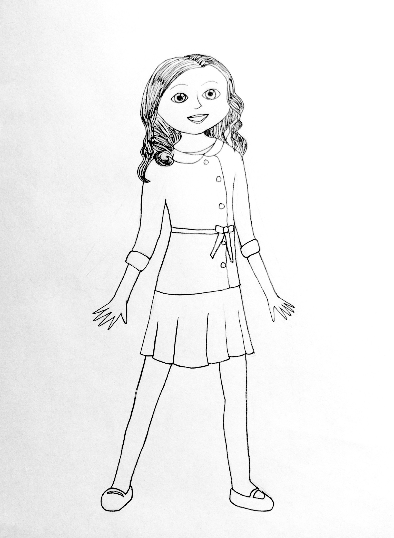 American Girl Coloring Pages Rebecca  American Girl Coloring Pages Beforever