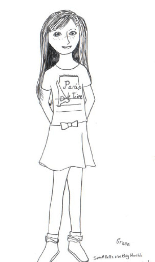 American Girl Coloring Pages Rebecca  American Girl Grace coloring pages