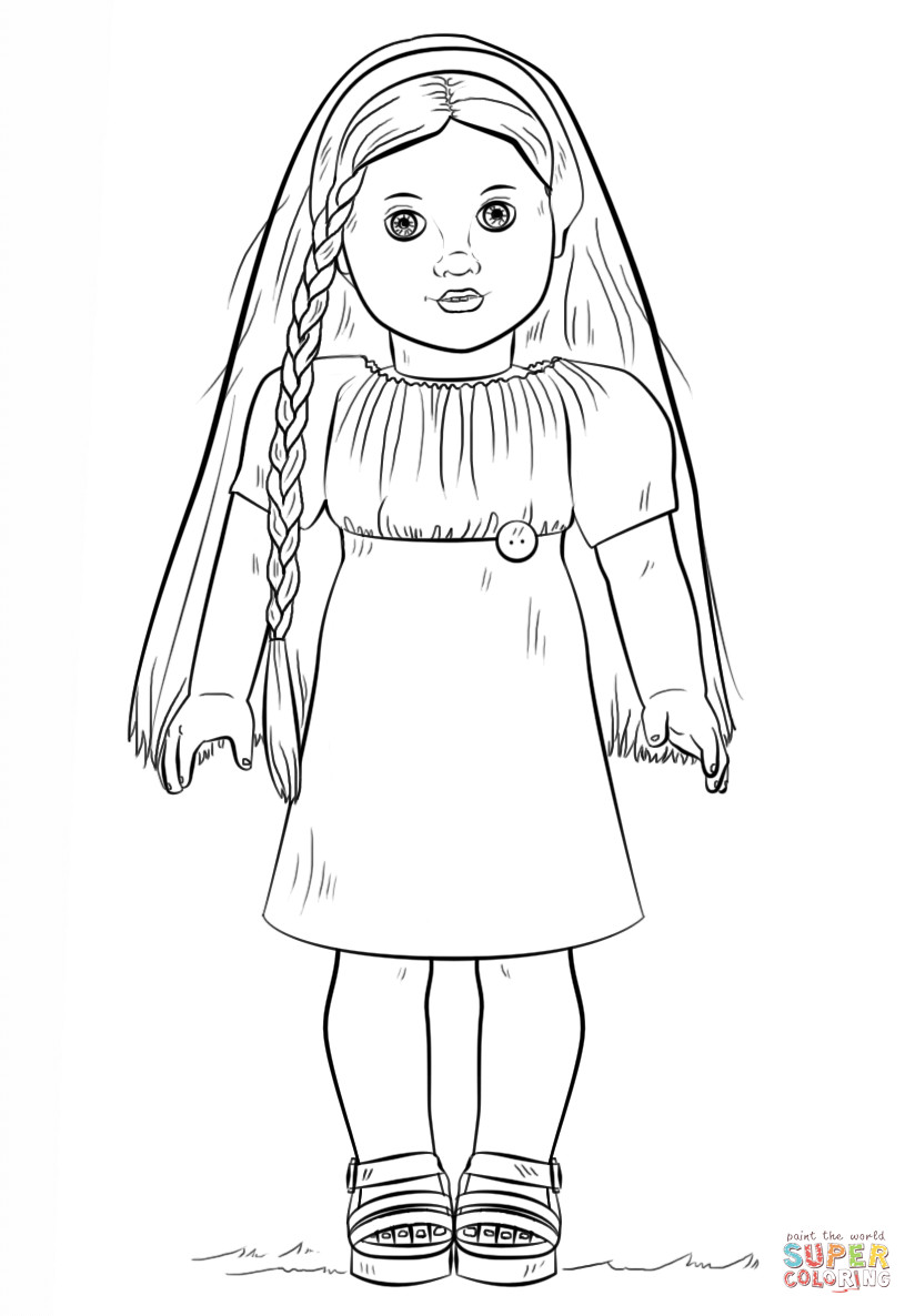 American Girl Coloring Pages Rebecca  American Girl Doll Julie coloring page