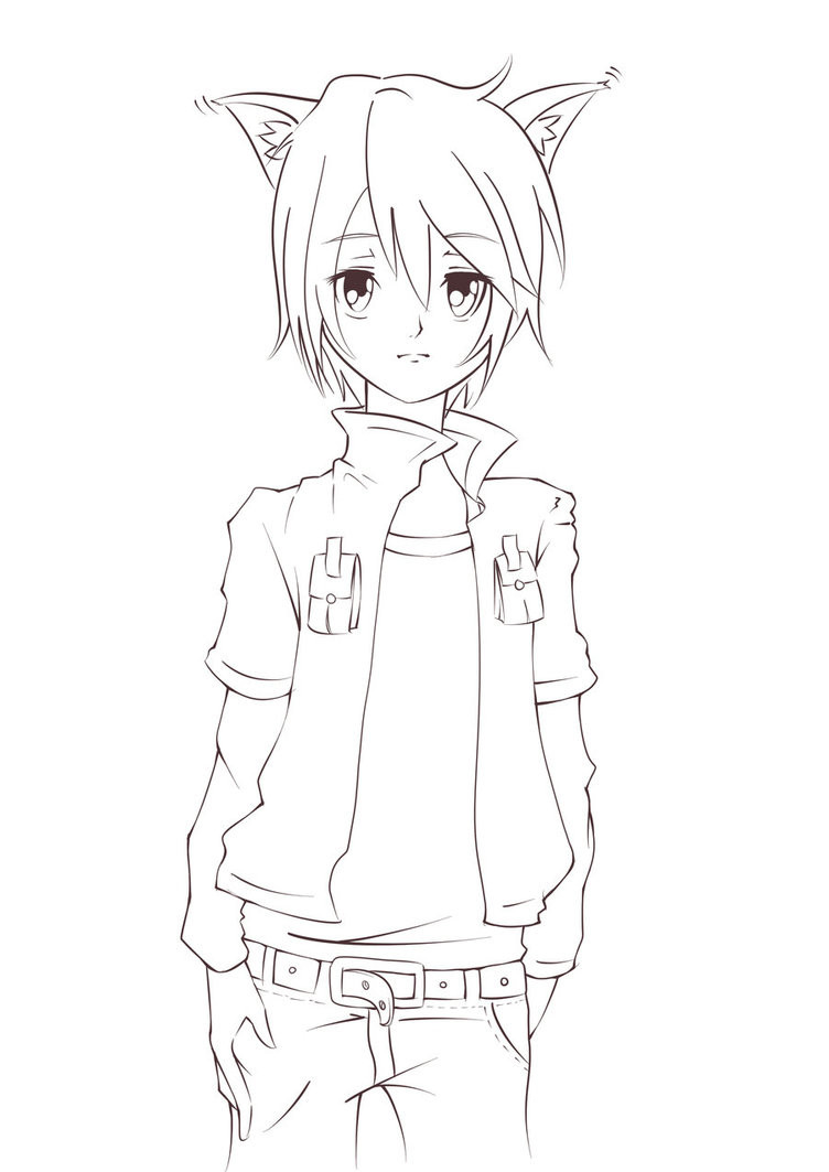 Anime Boys Coloring Pages Easy  Anime Guys Drawing at GetDrawings