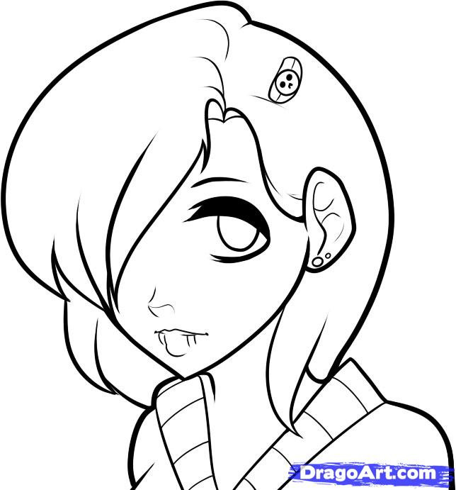 Anime Boys Coloring Pages Easy  How to Draw an Emo Face Emo Faces Step by Step Anime