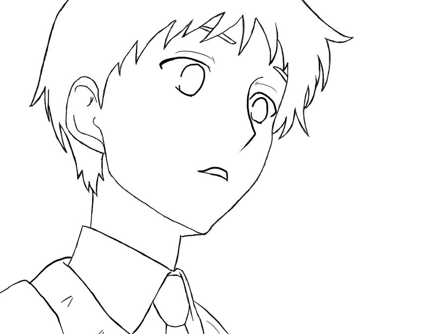 Anime Boys Coloring Pages Easy  Cute Boy Lineart by KasumiManga on DeviantArt