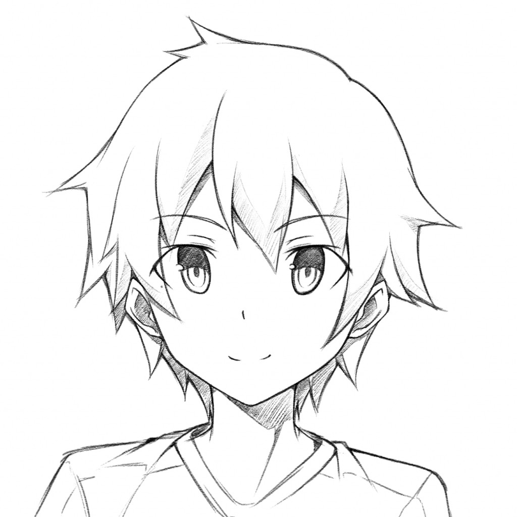 Anime Boys Coloring Pages Easy  Easy Anime Boy Drawing at GetDrawings