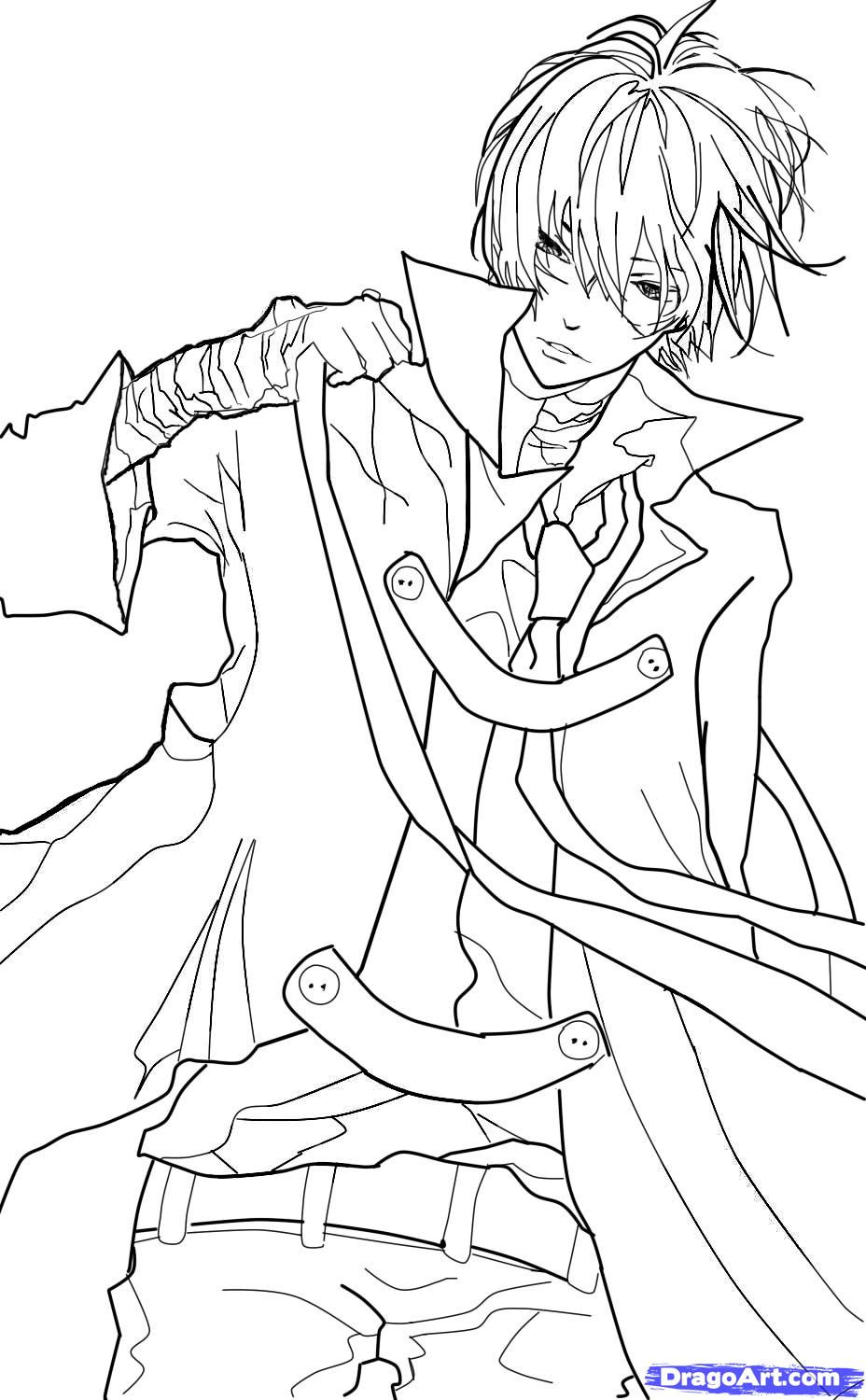 Anime Boys Coloring Pages Easy  How to Sketch an Anime Boy Step by Step Anime People