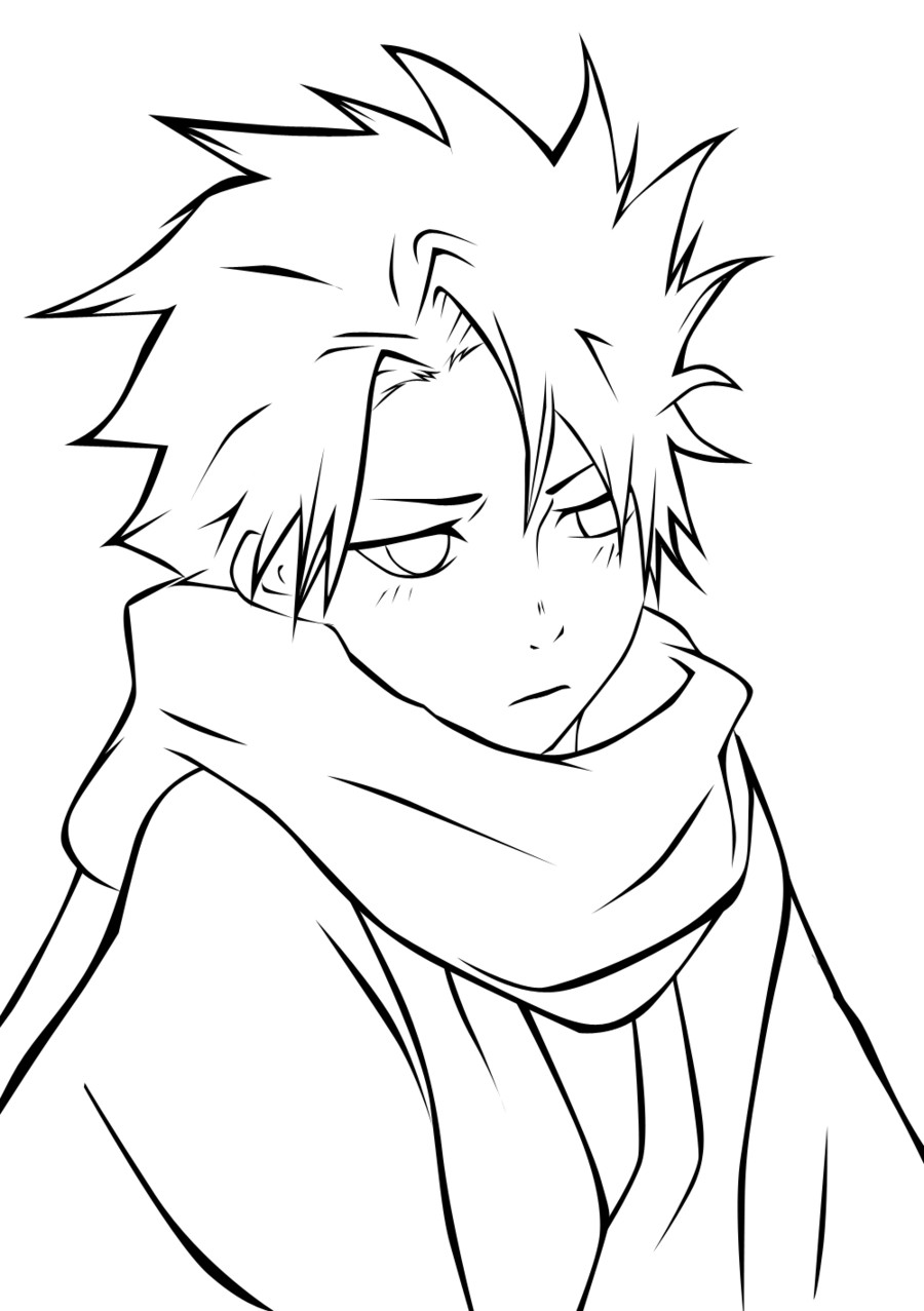 Anime Boys Coloring Pages Easy  Coloring Sheets for Boys Anime