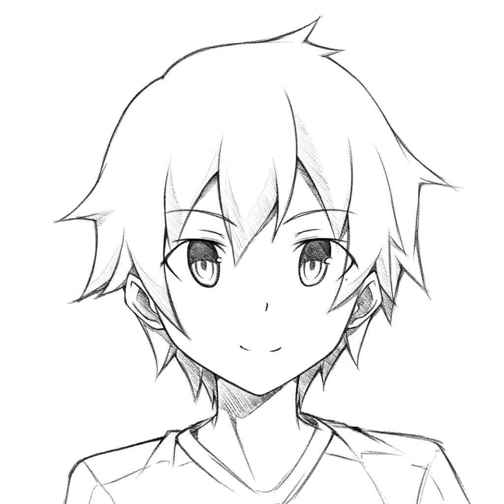 Anime Boys Coloring Pages Easy  Anime paintings search result at PaintingValley