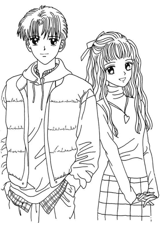 Top 25 Anime Girl And Boy Coloring Pages - Home Inspiration And Ideas DIY  Crafts Quotes Party Ideas