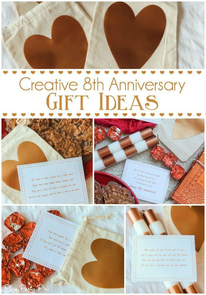 Anniversary Gift Ideas  Love these fun 8th anniversary t ideas especially the