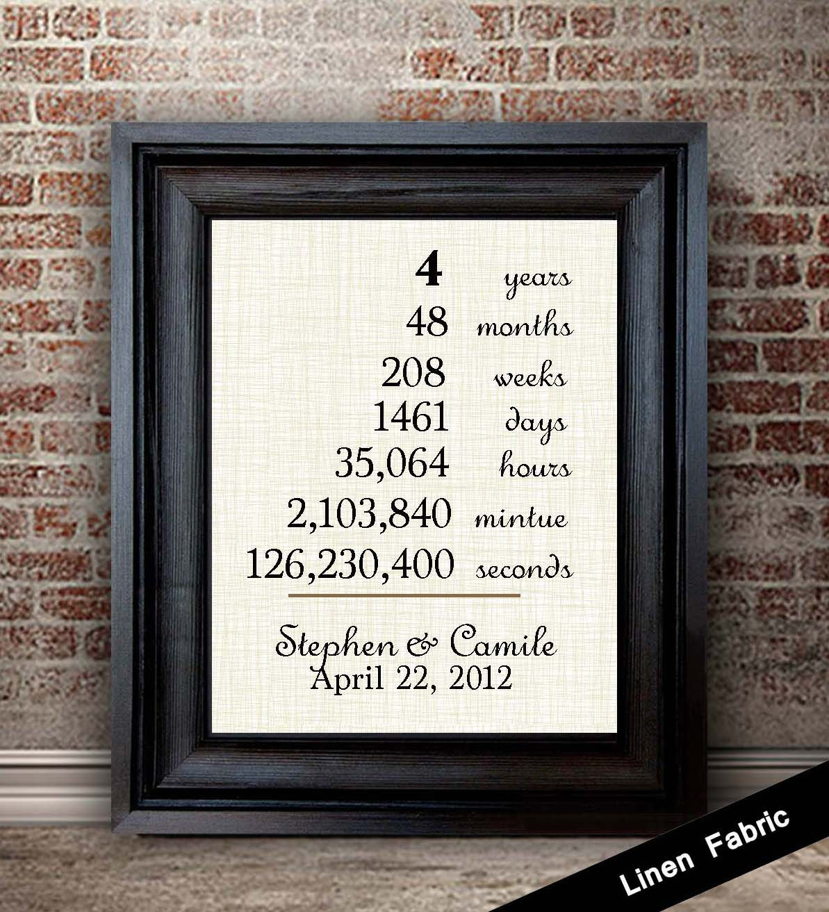 Anniversary Gift Ideas  4th Anniversary Gift for Wife Linen Anniversary Gift 4