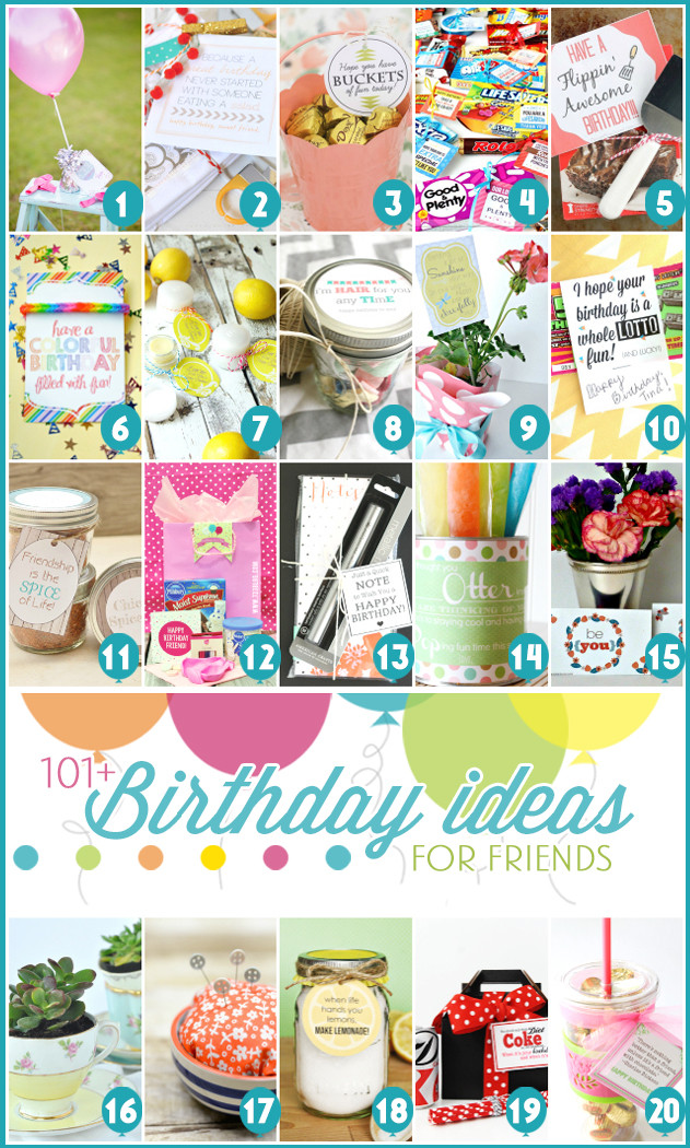 Anniversary Gift Ideas For Friends  101 Creative & Inexpensive Birthday Gift Ideas