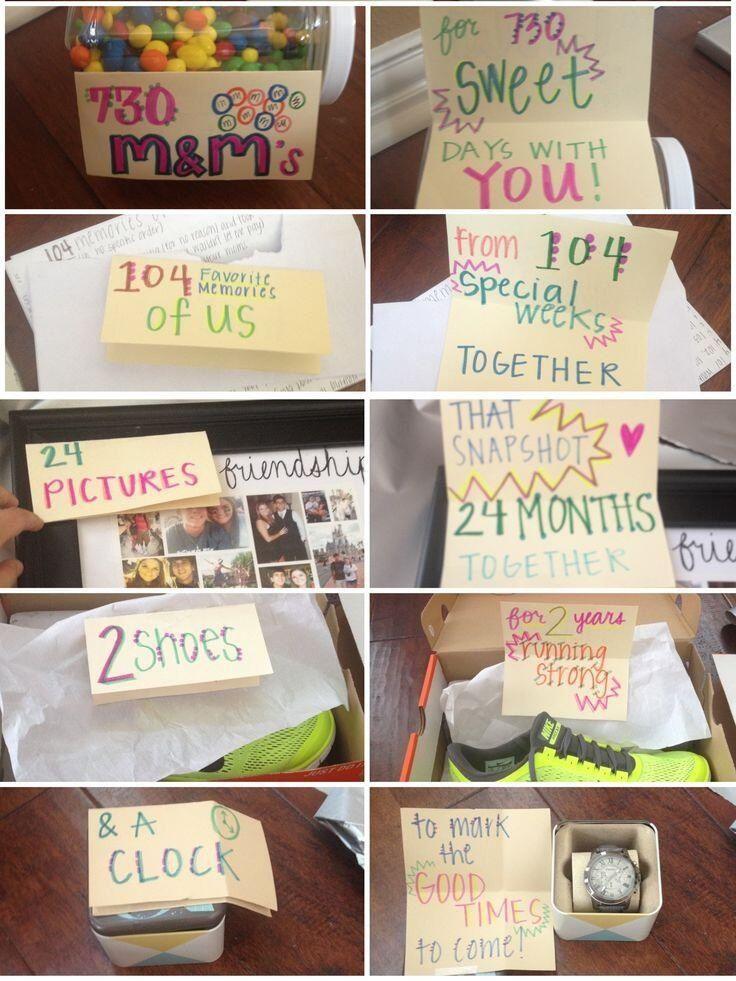 Anniversary Gift Ideas For Girlfriend  Two year anniversary t for boyfriend