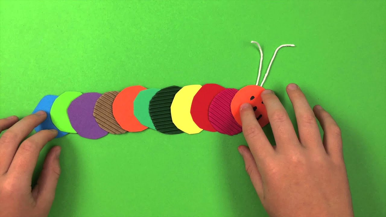 Art And Craft For Kids  How to make a Caterpillar simple preschool arts and
