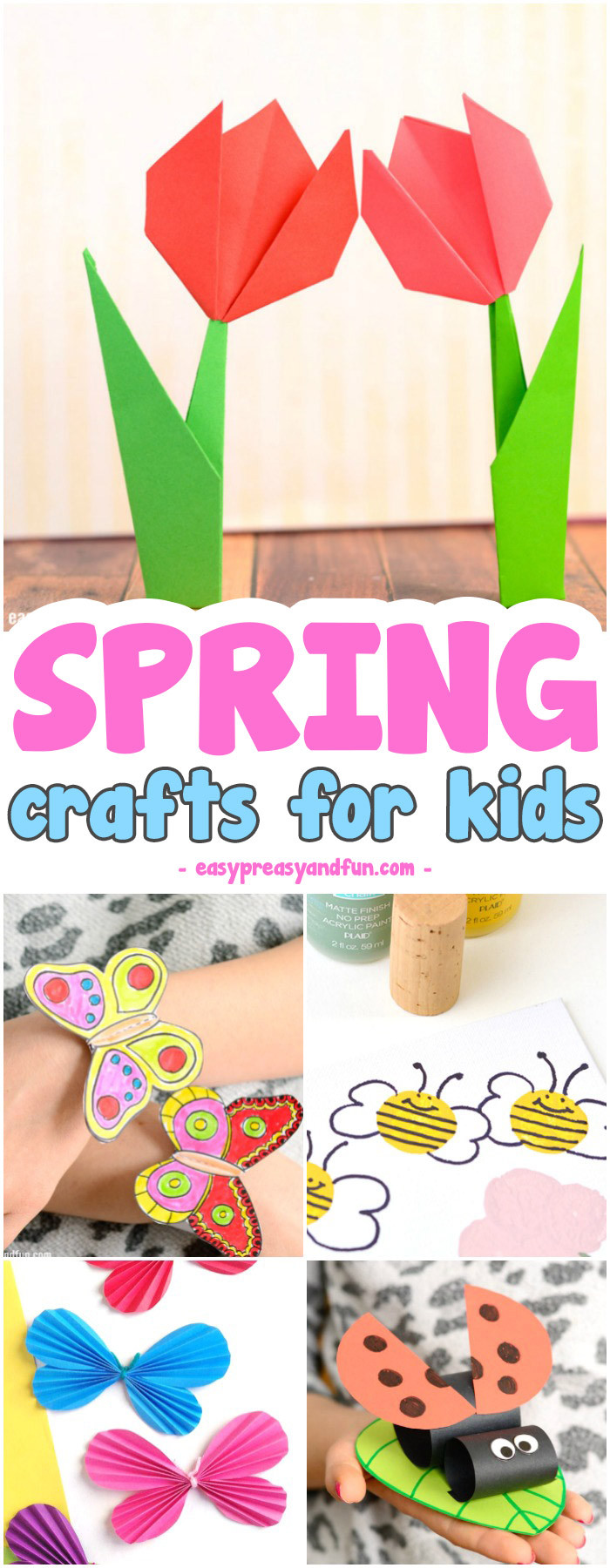 Art And Craft For Kids  Spring Crafts for Kids Art and Craft Project Ideas for