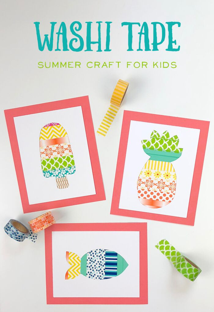 Art And Craft Ideas For Kids  A Fun Washi Tape Summer Crafts for Kids The Idea Room
