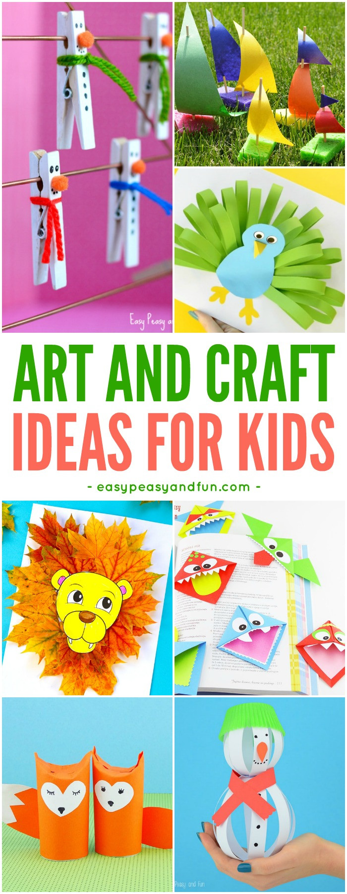 Art And Craft Ideas For Kids  Crafts For Kids Tons of Art and Craft Ideas for Kids to