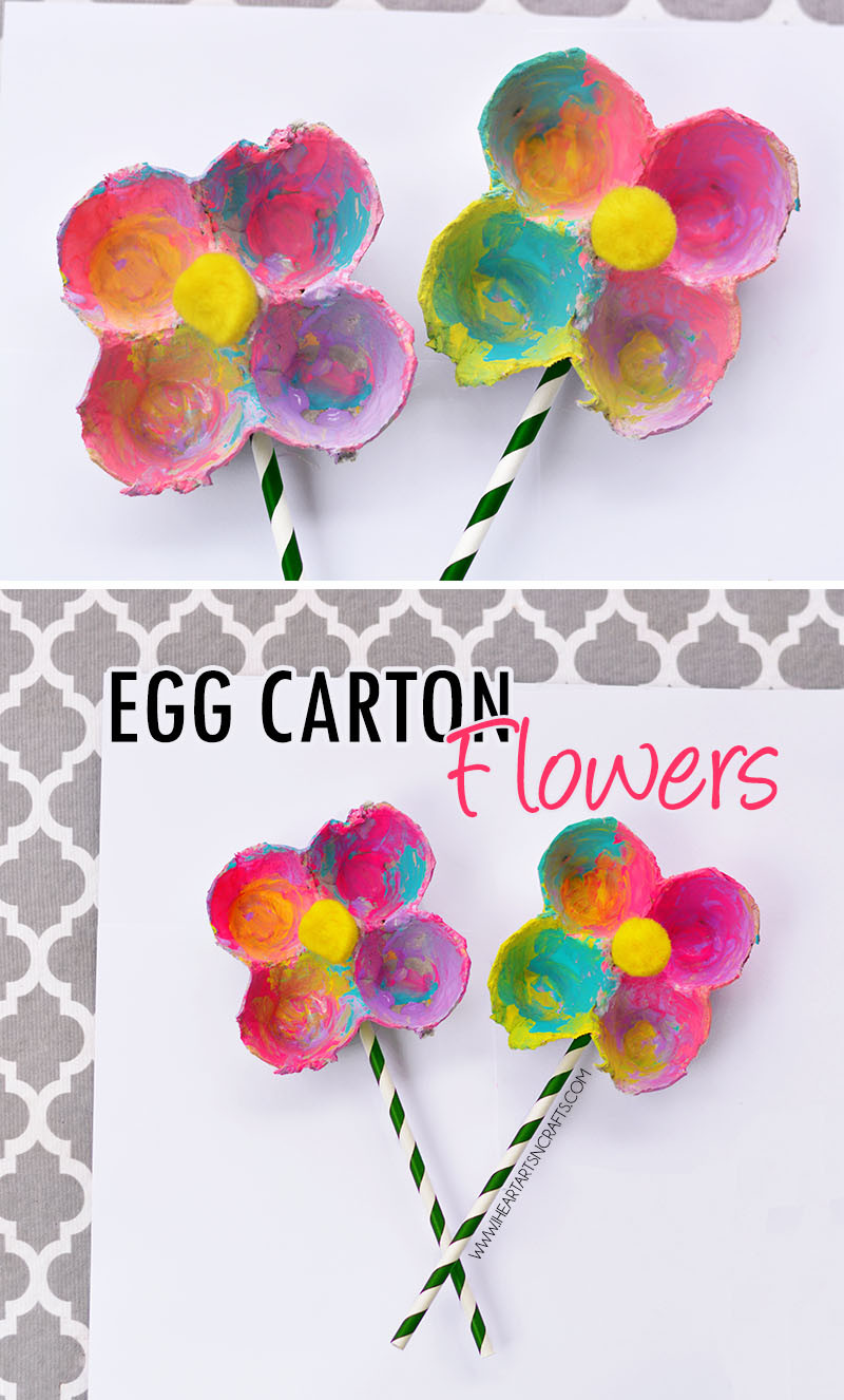 Art And Craft Ideas For Kids  Egg Carton Flowers I Heart Arts n Crafts