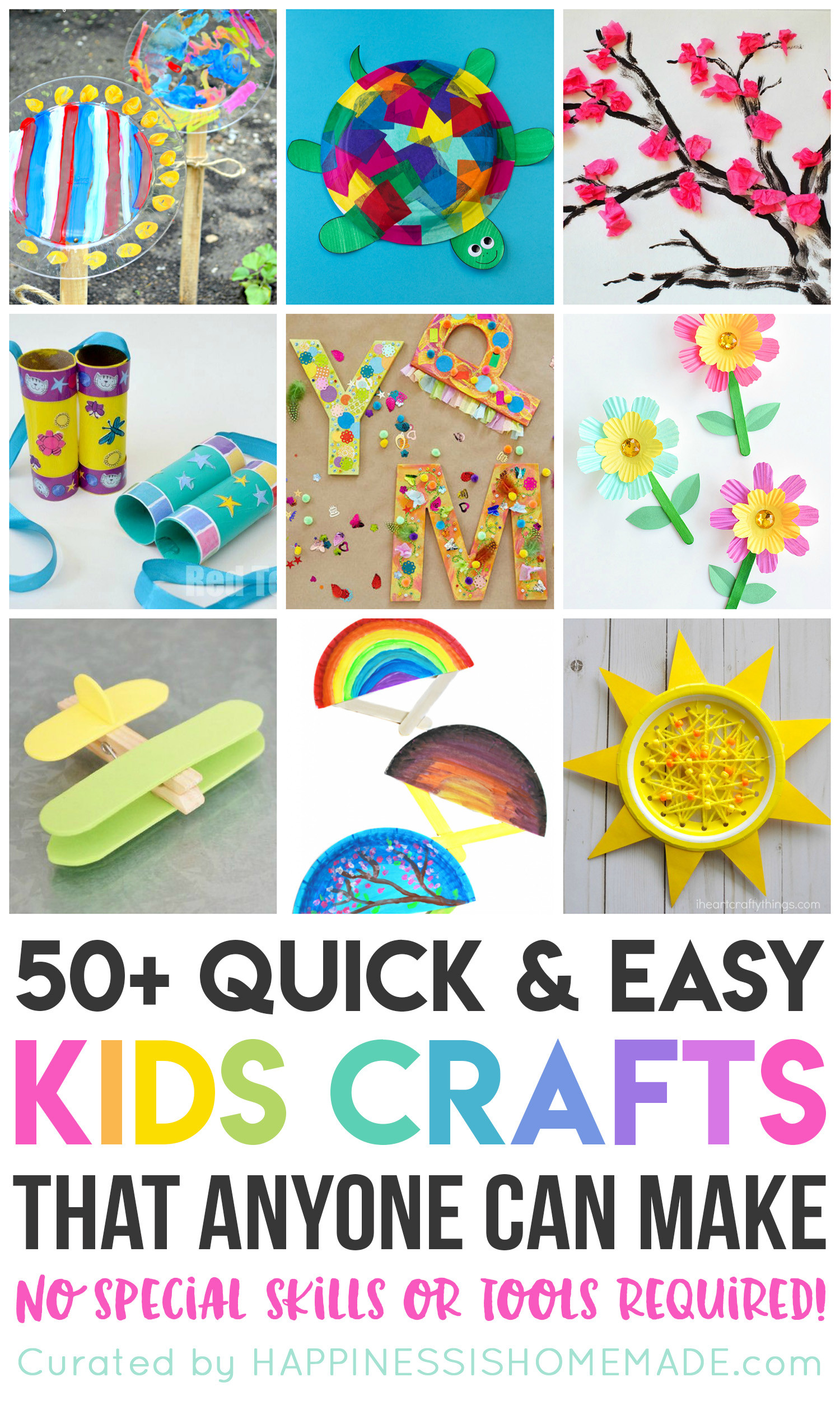 Art And Craft Ideas For Kids  Quick & Easy Halloween Crafts for Kids Happiness is Homemade