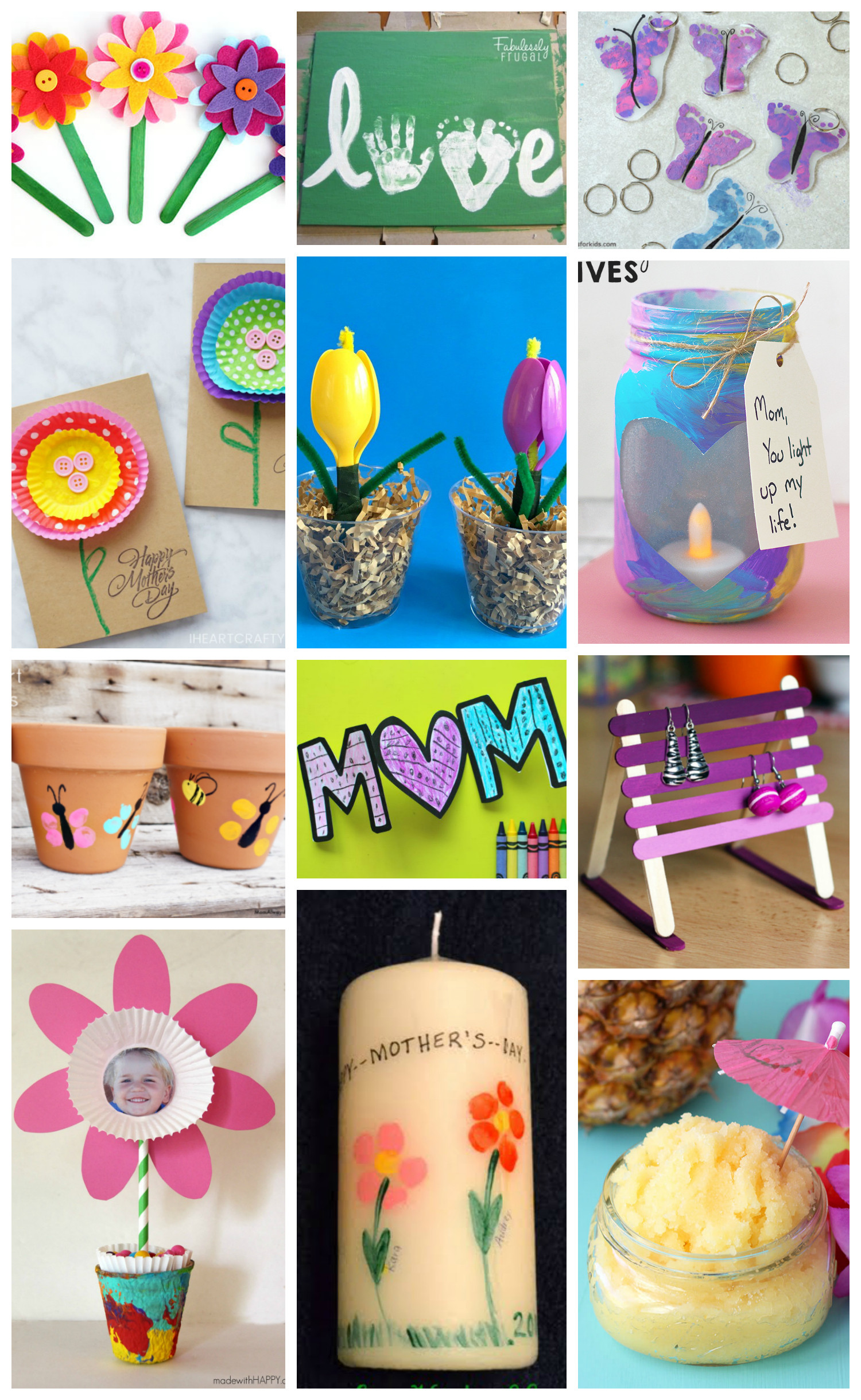 Arts And Crafts Mothers Day Gift Ideas  Easy Mother s Day Crafts for Kids Happiness is Homemade