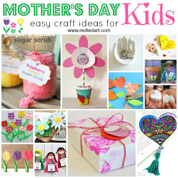Arts And Crafts Mothers Day Gift Ideas  Easy Mother s Day Crafts for Kids to Make Red Ted Art