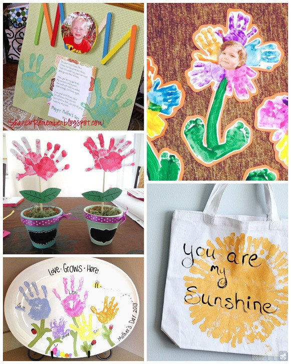 Arts And Crafts Mothers Day Gift Ideas  Mother s Day Handprint Crafts & Gift Ideas for Kids to