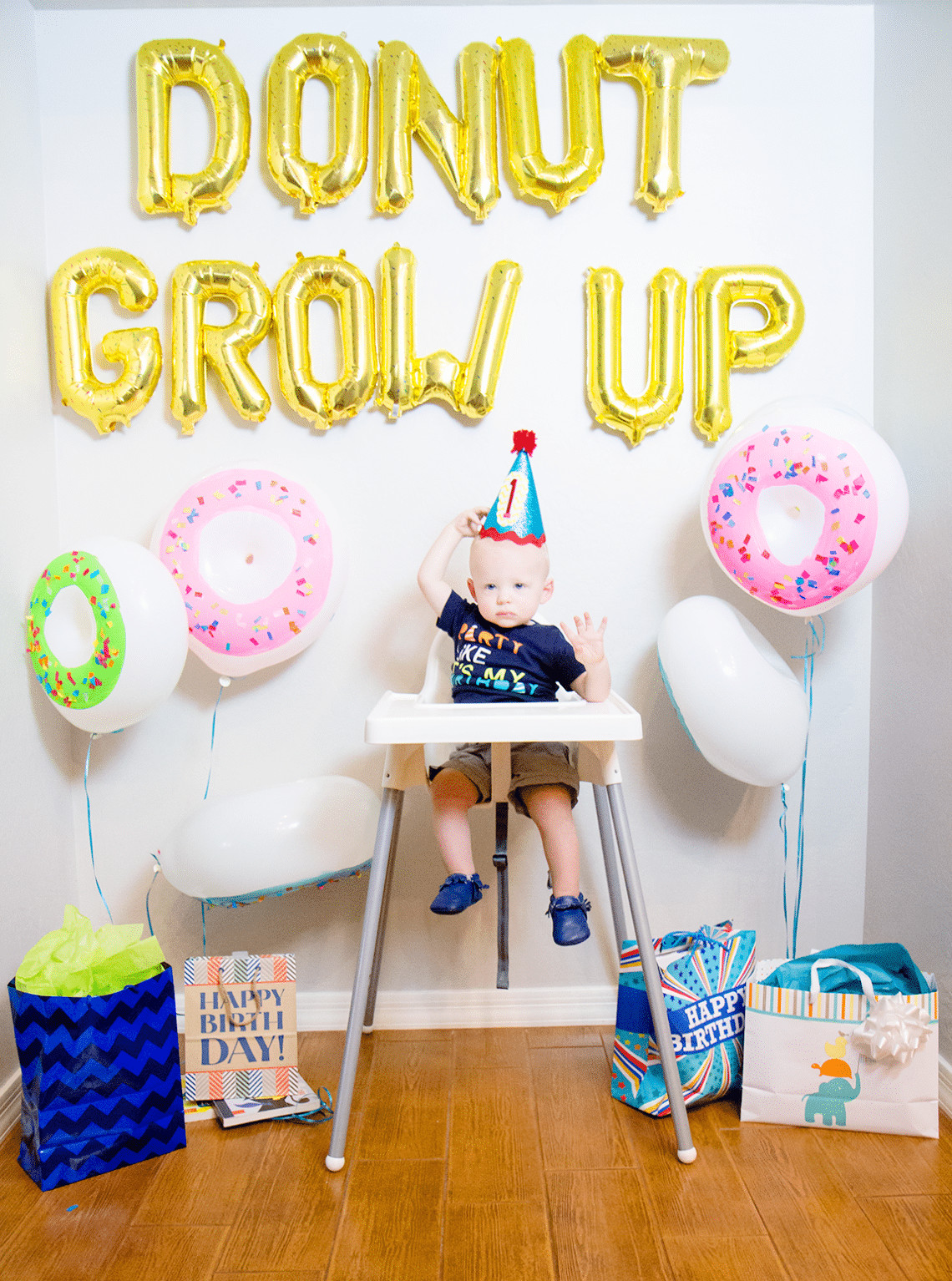 Baby Boys 1St Birthday Gift Ideas  Donut Grow Up 1st Birthday Party Friday We re in Love