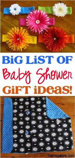 Baby Shower Gift List Ideas  Beautiful Baby Shower Ideas on a Bud The Frugal Girls