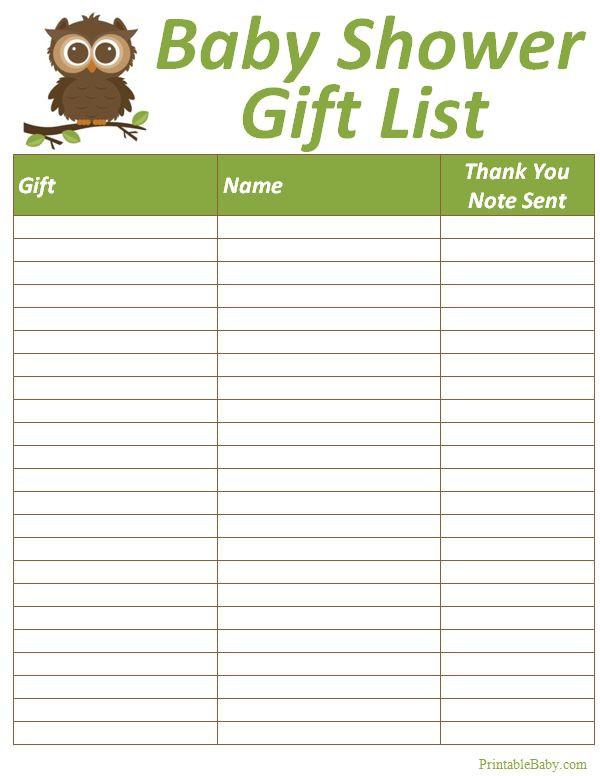 Baby Shower Gift List Ideas  Best 25 Baby shower t list ideas on Pinterest