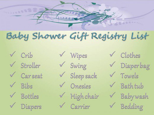 Baby Shower Gift List Ideas  What Should I Put on My Baby Registry