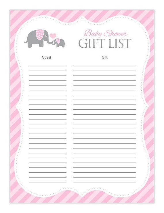 Baby Shower Gift List Ideas  25 best ideas about Pink elephant on Pinterest