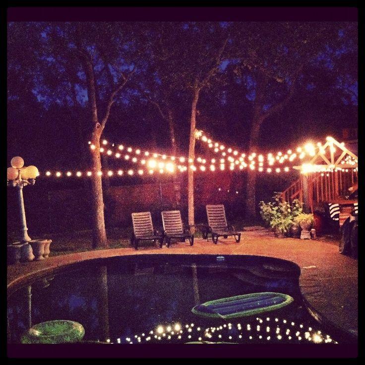 Backyard 21St Birthday Party Ideas  lighted backyards backyard party lights