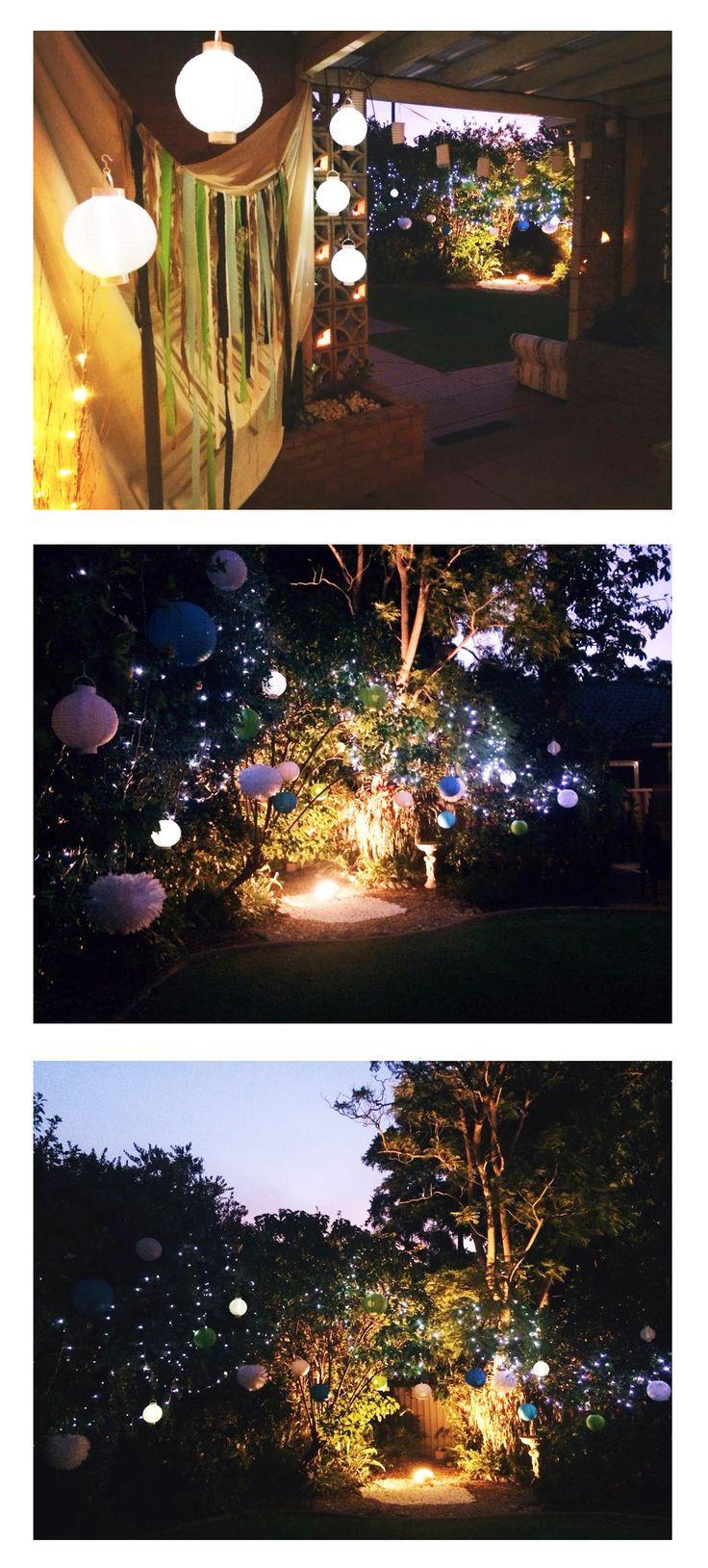 Backyard 21St Birthday Party Ideas  My 21st Birthday Decorations Fairy Lights Paper