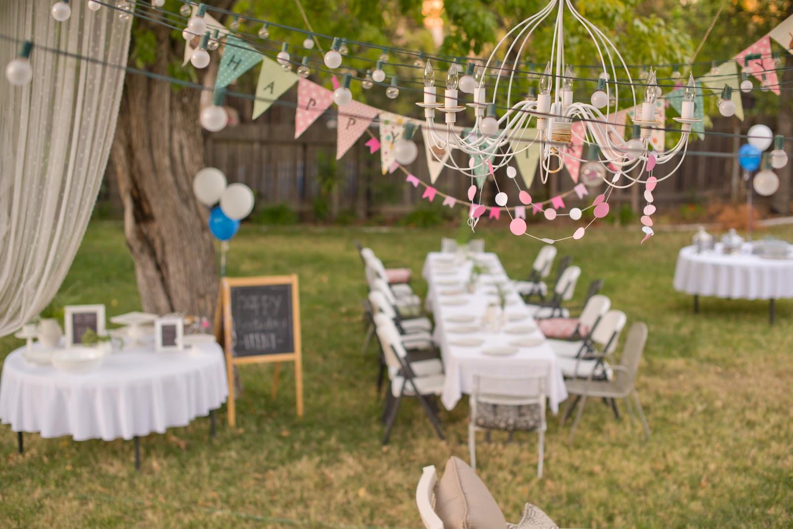 Backyard 21St Birthday Party Ideas  Domestic Fashionista 31 Days of Creative Homemaking