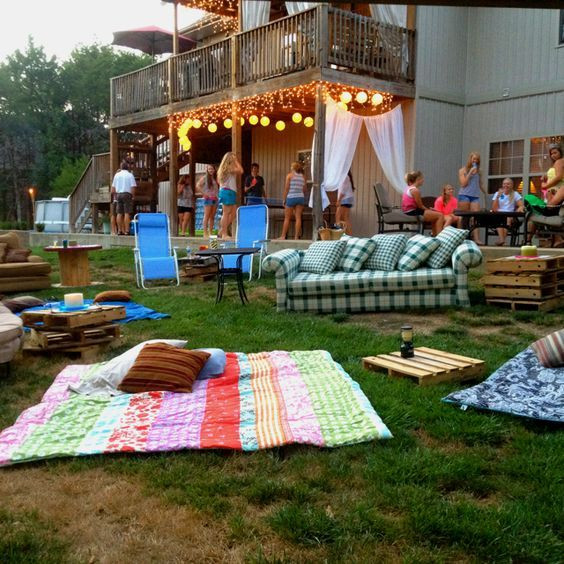 Backyard 21St Birthday Party Ideas  Outdoor movie night Swimming movie and s mores