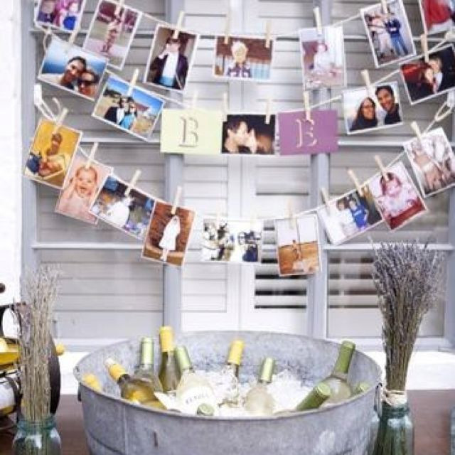 Backyard 21St Birthday Party Ideas  21st birthday photo decoration could do this for any