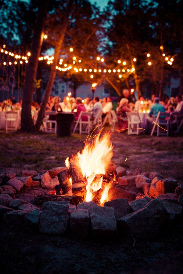 Backyard Fire Pit Party Ideas  Wedding Bonfire on Pinterest