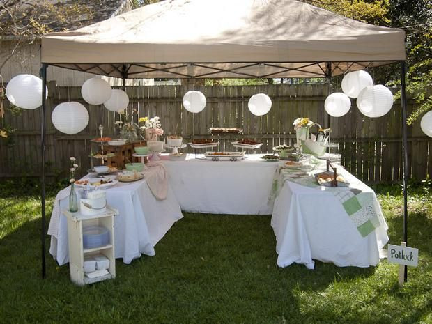 Backyard Party Set Up Ideas  Hostess with the Mostess Mother s Surprise 60th